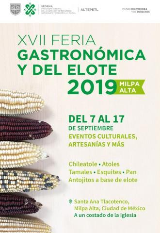XVII Feria Gastronómica y del Elote 2019
